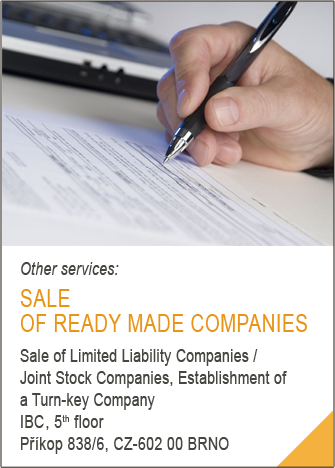 Sale of ready made companies